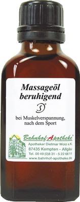 beruhigende massage ol