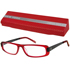 NEW YORK  Brille rot-schwarz +3,00 dpt