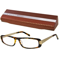 NEW-YORK-Brille-Havana-gold-1-50-dpt